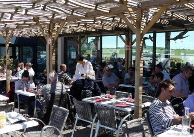 Terrasse, restaurant les Têtes Brulées