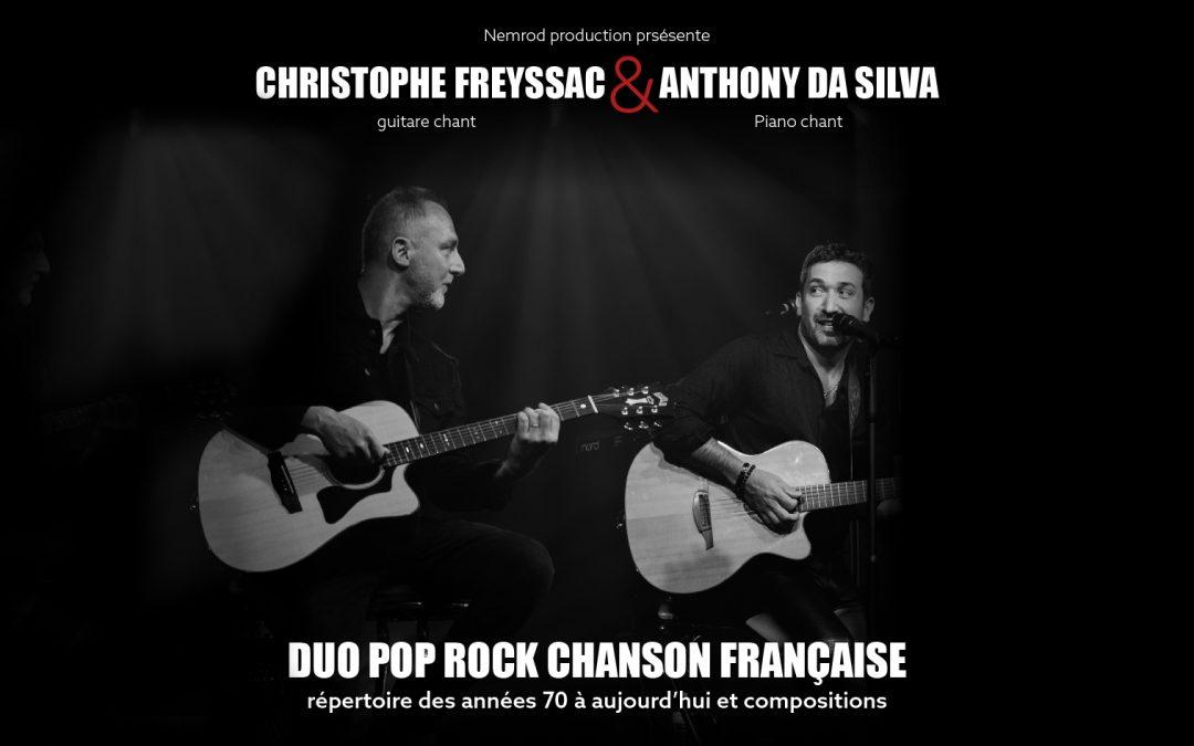 Dîner Concert 6 & 7 Novembre 2020 Christophe Freyssac et Anthony Da Silva