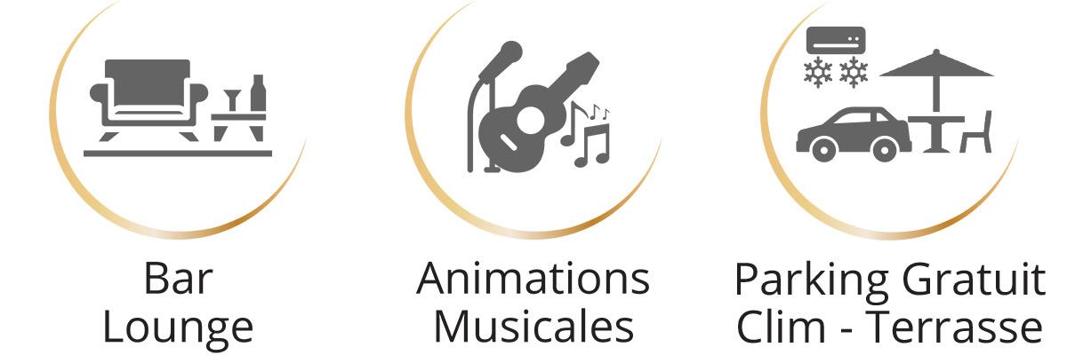 Resto Les Têtes Brûlées Bar lounge - Animations Musicales - Clim Parking gratuit Terrasse